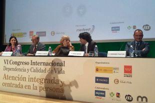 Manuela Carmena inaugura el VI Congreso Dependencia y Calidad de Vida