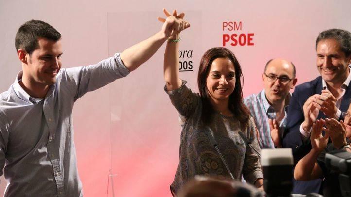 Sara Hernández, secretaria general del PSM, junto a Juan Segovia