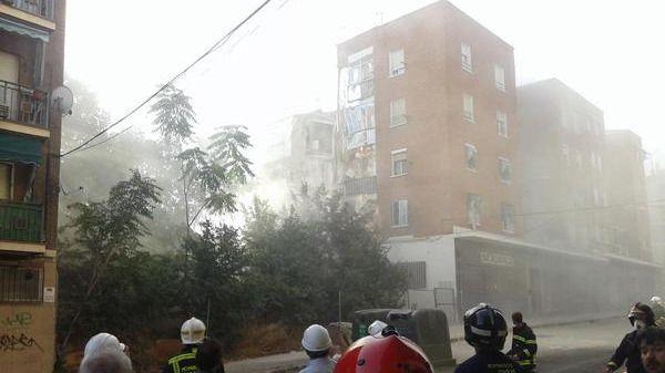 Derrumbe de un edificio en Carabanchel