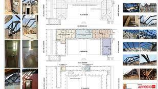 Planos de la reforma de la Plaza Mayor de Brunete