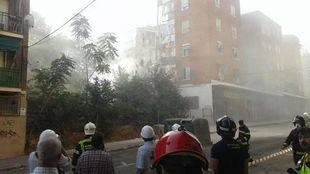 Edificio derrumbado en Carabanchel