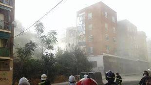 La inspección del edificio colindante al derrumbado no encuentra daños en su arranque