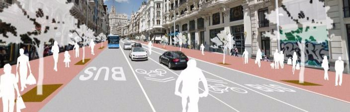 La calle Gran Vía quedará así tras la remodelación