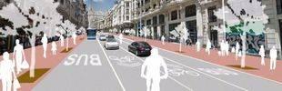 Una Gran Vía para ciclistas y peatones