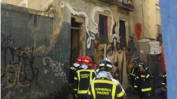 Incendio de un edificio 'okupa' en Lavapiés