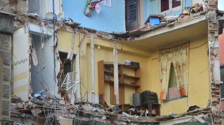 Edificio derrumbado calle Amalia 1.