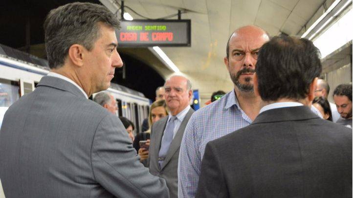 El consejero de Transportes, Vivienda e Infraestructuras, Pedro Rollán, presentando las primeras actuaciones para la remodelación de la Línea 5 de Metro.