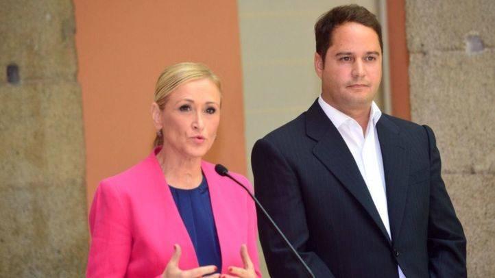 La presidenta Cristina Cifuentes y el alcalde de Torrejón de Ardoz, Ignacio Vázquez