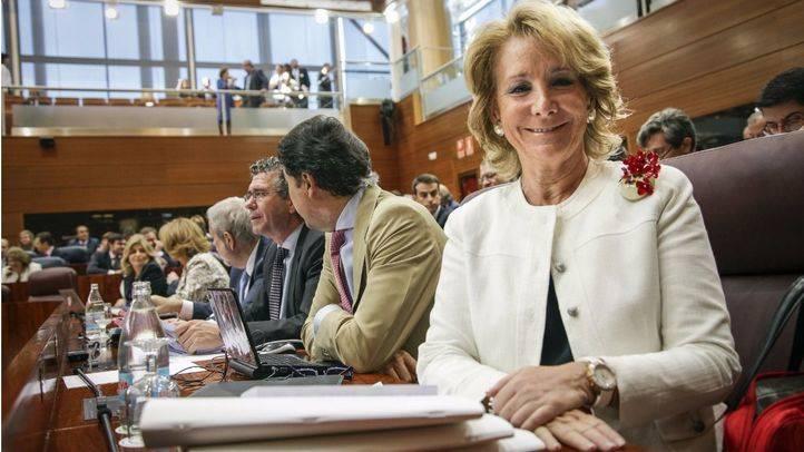 Aguirre, en la bancada popular en la Asamblea.