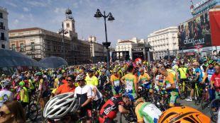 Los ciclistas piden más seguridad en Sol