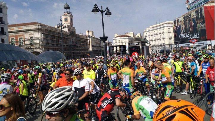 Protesta ciclista en Sol