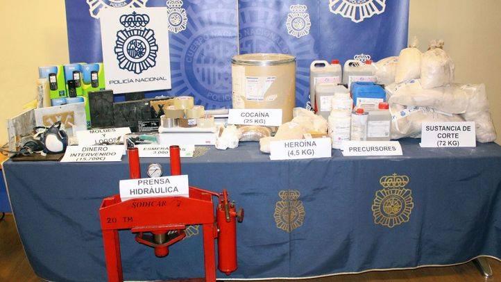 Sustancias estupefacientes requisadas por la Policía Nacional