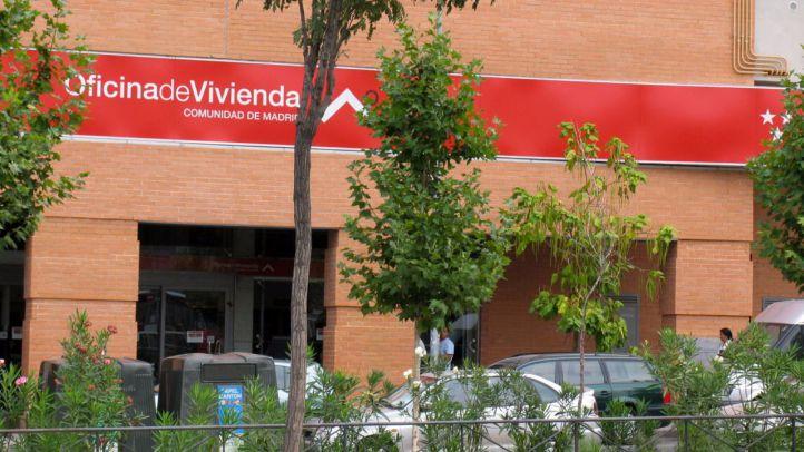 Oficina de vivienda de la Comunidad de Madrid en la avenida de Astrias