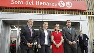 Inauguración de la estación de Cercanías Soto del Henares en Torrejón de Ardoz.