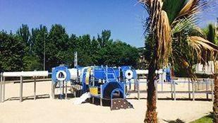Nueva zona de juegos del Parque París en Las Rozas