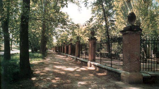 La tormenta daña siete tramos de la verja de forja del Jardín del Príncipe de Aranjuez