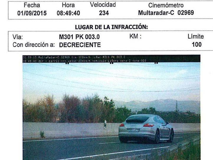 Detenido el jugador del Rayo Vallecano Antonio Amaya por ir a 234 km/h por la M-301