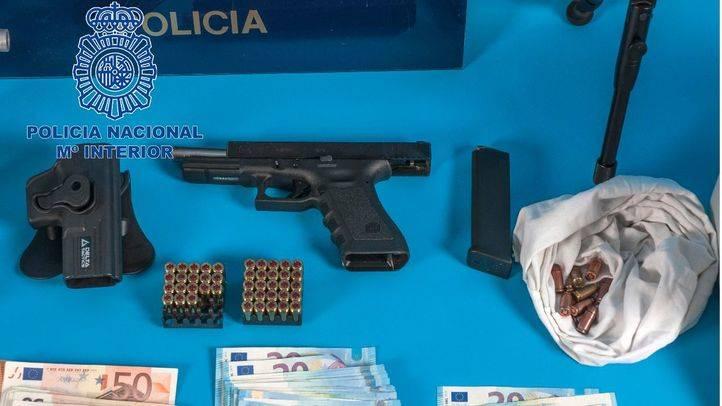 Pistolas requisadas por la Policía Nacional