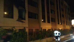 Incendio en un complejo de apartamentos