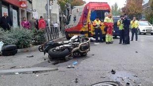 Muere un motorista de 62 años en un choque frontal en Robledo de Chavela