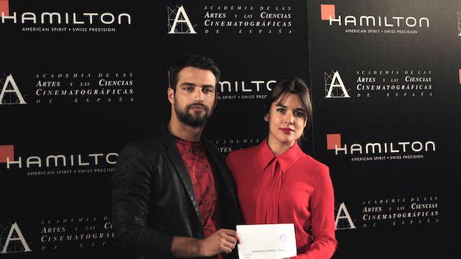 Los actores Jesús Castro y Adriana Ugarte leen el nombre de las películas preseleccionadas para los Premios Oscars