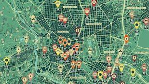 El mapa de Los Madriles reúne un centenar de iniciativas ciudadanas