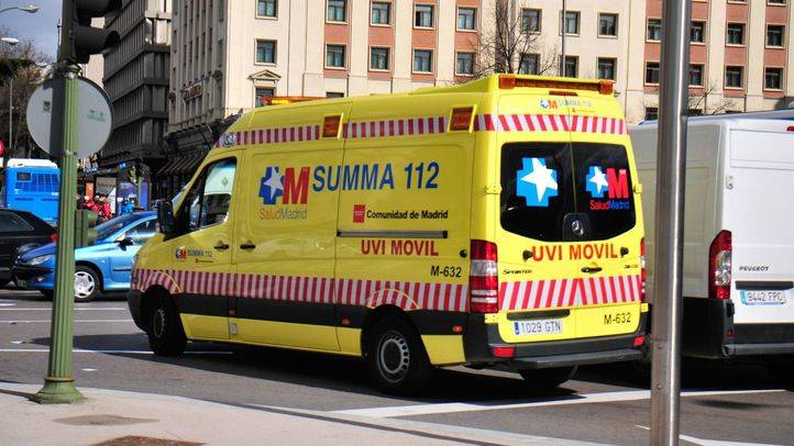 Herido un motorista tras chocar con un coche en la M-505