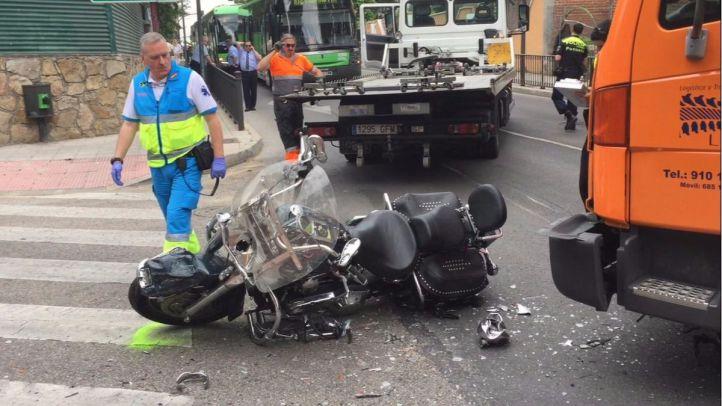 Fallece un motorista de 67 años tras colisionar con un camión en Pozuelo