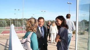 De la Uz asistió al primer dia de las Escuelas Deportivas de Las Rozas