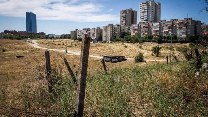 Visita a los terrenos donde se desarrollará la operación 'Castellana Norte'.