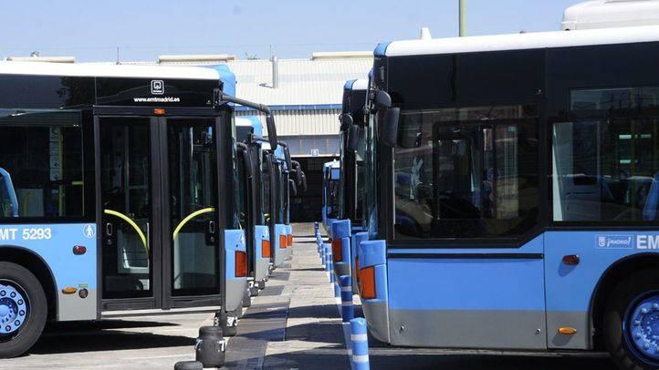 buses EMT en cocheras