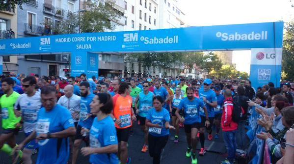 10.000 deportistas toman las calles de la capital en la VIII carrera 'Madrid corre por Madrid'