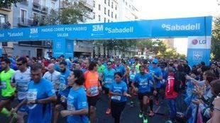10.000 deportistas toman la capital en la carrera 'Madrid corre por Madrid'