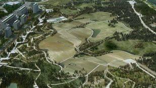 Las obras del paseo del parque central de Valdebebas se retrasan a noviembre