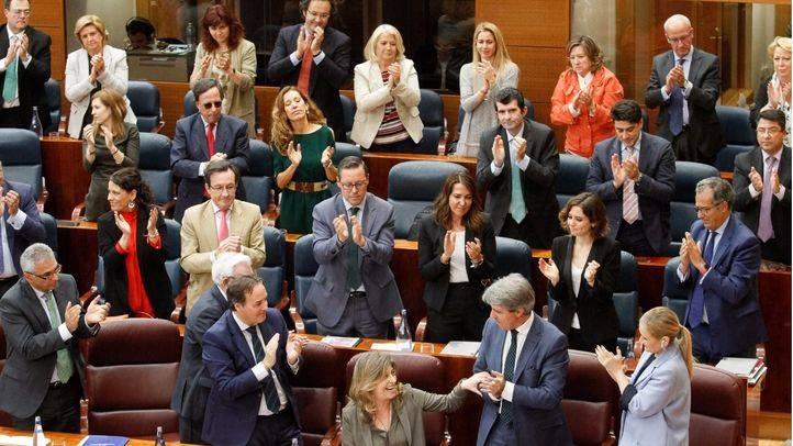 La bancada del grupo popular en la Asamblea de Madrid.