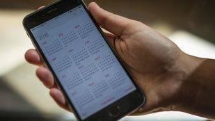Calendario de un móvil