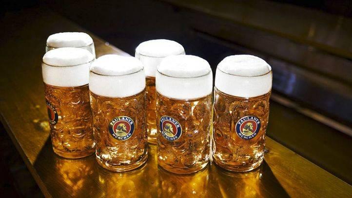 Cerveza Paulaner en el Oktoberfest