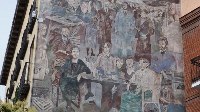 Recogen firmas para conservar el mural de la Plaza de Cascorro