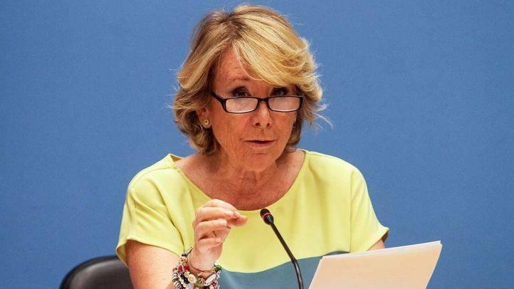 Esperanza Aguirre, presidenta del PP de Madrid y portavoz del grupo popular en el Ayuntamiento