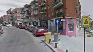 Calle Vicente Espinel donde se encuentra el domicilio del presunto autor