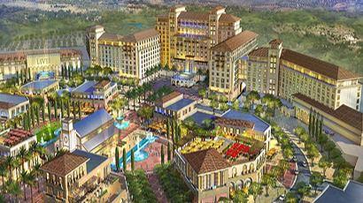 Recreación del complejo Live! Resorts Madrid de Cordish en Torres de la Alameda