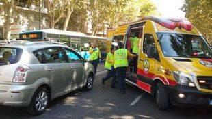 Herida grave una mujer de 25 años tras ser atropellada en Madrid
