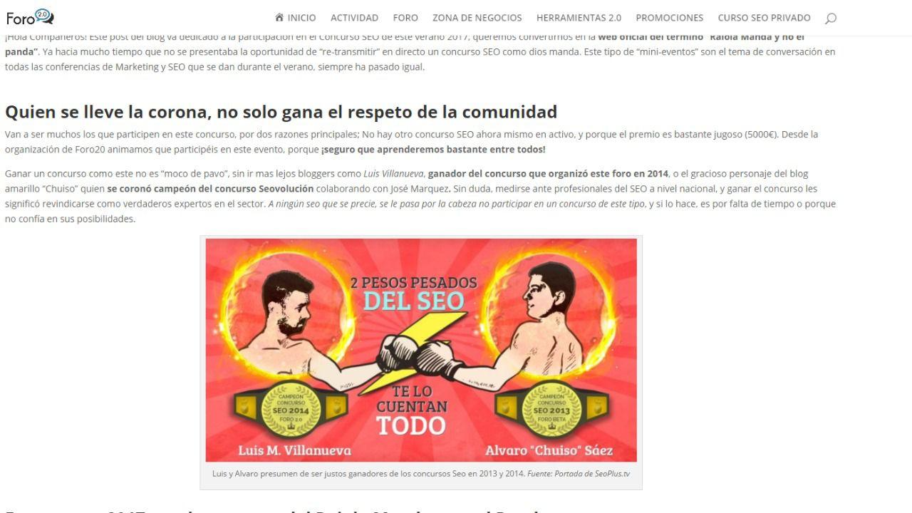 """Nace """"Raiola Manda y no el panda"""" un concurso de marketing digital en España"""