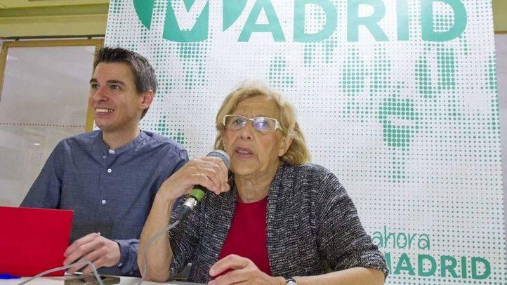 Presentación del programa de gobierno colaborativo y abierto de Ahora Madrid en la que han intervenido Manuela Carmena y Pablo Soto.