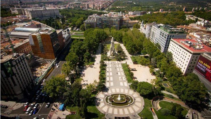 Vista aérea de la plaza de España.