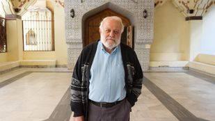 Riay Tatary, presidente de la Unión de comunidades islámicas de España, en la entrada de la mezquita central de Madrid (Abu-Bakr)