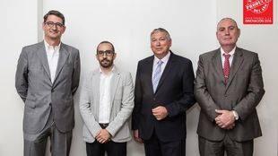 David Riu, Borja Martín, Carlos Jordana y Josep Ramón Meseguer