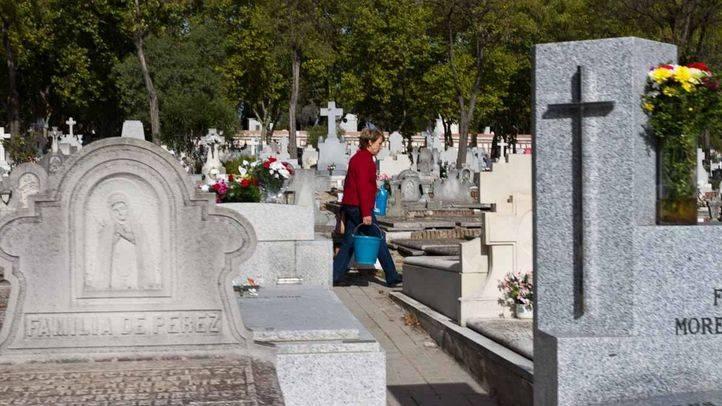 Vista del cementerio de la Almudena en Madrid