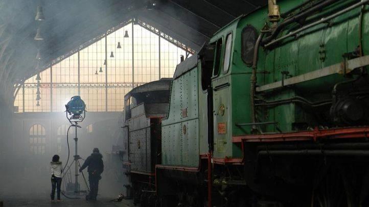Rodaje de una película en el Museo del Ferrocarril