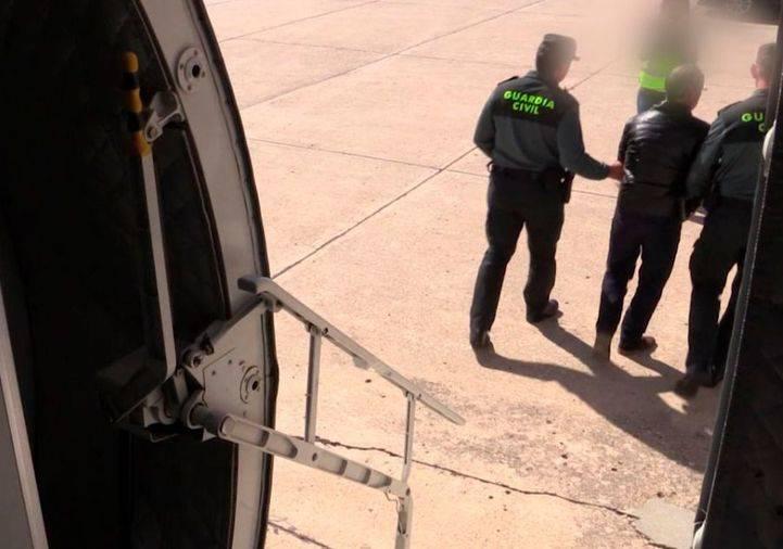 Llegada a Torrejón del presunto asesino de Eva Blanco
